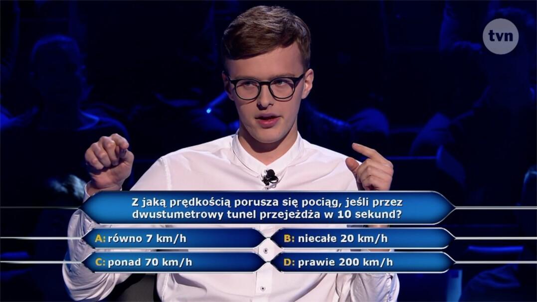 """Pytanie matematyczne w """"Milionerach"""" za 40 tysięcy złotych"""