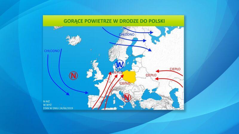 Gorące powietrze w drodze do Polski