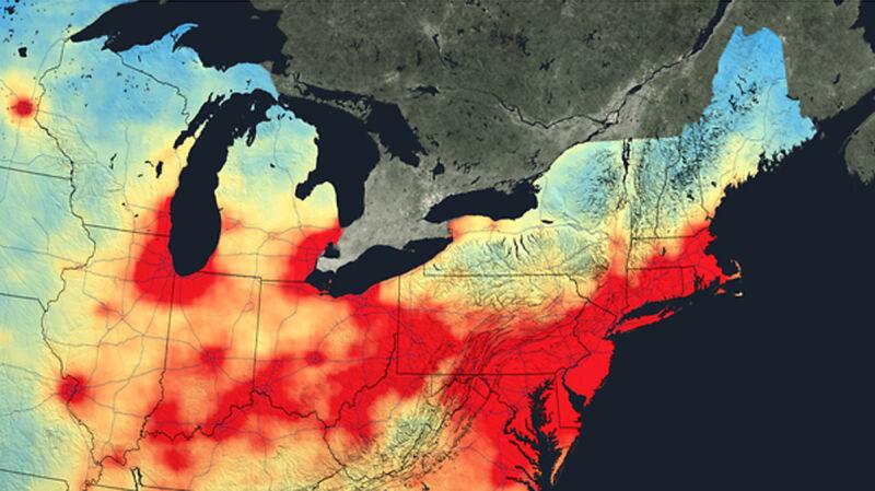 Zanieczyszczenia dwutlenkiem azotu (2005 rok)