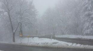 Wiosenny atak zimy na Dolnym Śląsku (TVN24/Tomasz Mildyn)