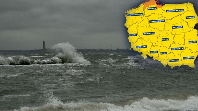 Silny wiatr nad Polską nie ustaje. Alerty w całym kraju