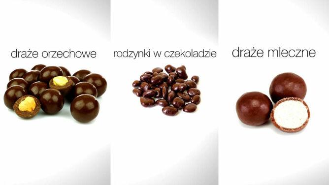 Ile kalorii mają draże i rodzynki w czekoladzie?