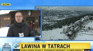 Leszek Kabłak o sytuacji w Tatrach (TVN24)