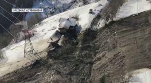 Zniszczenia po lawinie w Gasteinertal
