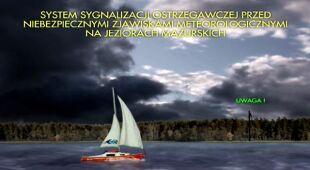Animacja systemu sygnalizacji ostrzegawczej na Mazurach/RZGW w Warszawie